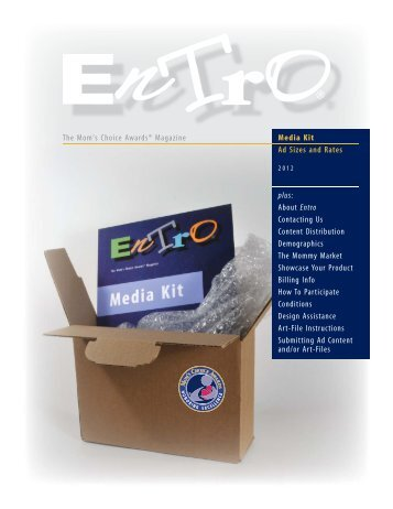 Media Kit Ad Sizes and Rates plus: About Entro Contacting Us ...