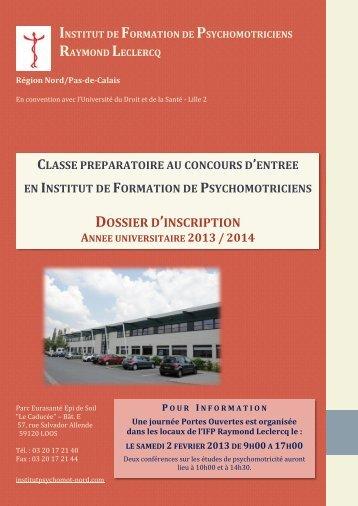 D - Institut de Formation de Psychomotriciens