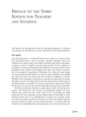 PREFACE TO THE THIRD EDITION FOR ... - Aspen Publishers