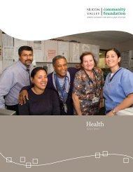 Health - Silicon Valley Community Foundation