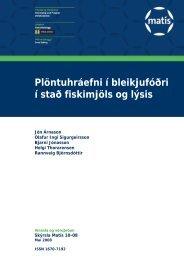 Plöntuhráefni í bleikjufóðri í stað fiskimjöls og lýsis - Matís