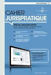 Cahier jurispratique spécial qualification - Conseil National de l ...