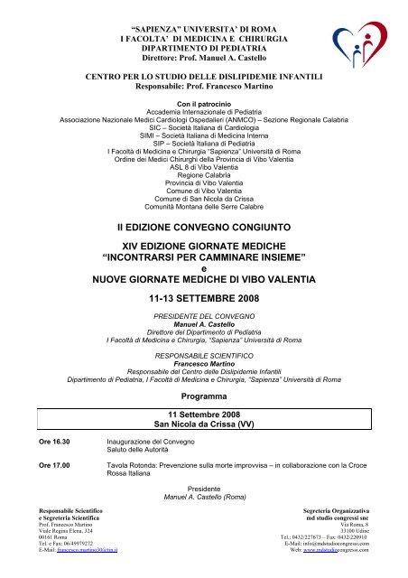 e NUOVE GIORNATE MEDICHE DI - Ordine Medici ed Odontoiatri ...