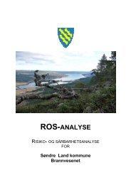 ROS-analyse brannvesenet - Søndre Land kommune