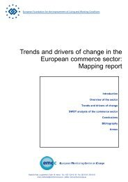 Trends and drivers of change in the European ... - Eurofound