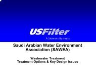Wastewater Treatment Options - Saudi Arabian Water Environment ...