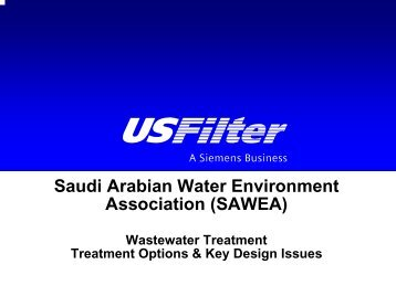 Wastewater Treatment Options - Saudi Arabian Water Environment ...
