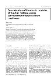 Determination of the elastic modulus of thin film ... - ResearchGate
