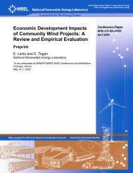 Economic Development Impacts of Community Wind Projects - NREL