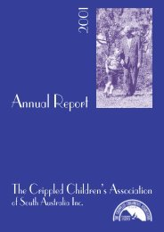 R&D Annual Report 2001 (PDF - 179Kb) - Novita Children's Services