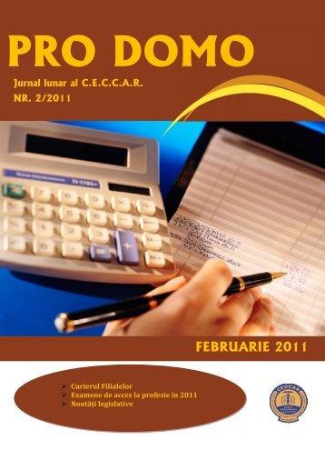 PRO DOMO februarie 2011.pdf - C.E.C.C.A.R. – Filiala Brasov
