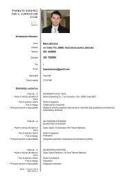 Formato Europeo per il Curriculum Vitae - Modello - Ordine degli ...