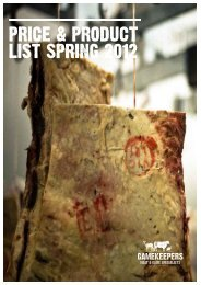 PRICE & PRODUCT LIST SPRING 2012 - Gamekeepers