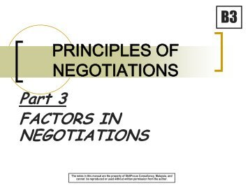 Negotiating & Leadership