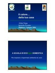 Il calore… della tua casa - Alida Nepa - Provincia di Ferrara