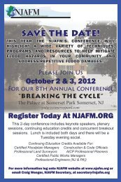 2012 NJAFM Conference Announcement