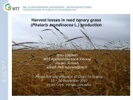 Harvest losses in reed canary grass (PhalarisarundinaceaL.)