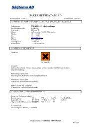 Säkerhetsdatablad (MSDS) (80.5 KB - pdf) - Jula
