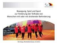 Bewegung, Spiel und Sport zur Förderung der Teilhabe von ...