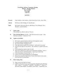 Twin Brook Advisory Committee Meeting DRAFT - Meeting Minutes ...