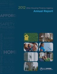 Ohio Housing Finance Agency 2012 Annual Report