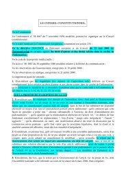 LE CONSEIL CONSTITUTIONNEL, - Globenet
