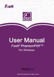 Foxit PhantomPDF 6.0.3_User Manual - Parent Directory