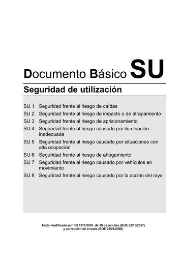 Documento Básico SU - Seguridad de Utilización