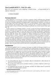 Nuovi modelli dell'ICT – Web 2.0 e oltre - Antonio Candiello