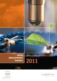 Bilan Développement Durable - Centre de Cadarache - CEA
