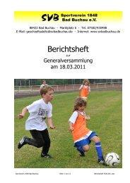 Berichtsheft - SV Bad Buchau