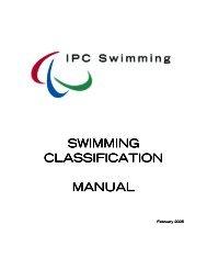 SWIMMING CLASSIFICATION CLASSIFICATION MANUAL - Fecledmi