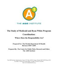 The Study of Medicaid and Ryan White Program ... - The AIDS Institute
