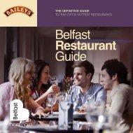 Belfast Restaurant Guide - Belfast City Council