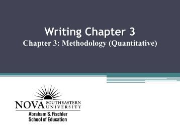 Thesis writing chapter 3 methodology