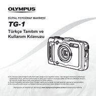 Türkçe Tanıtım ve Kullanım Kılavuzu TG-1 - Olympus