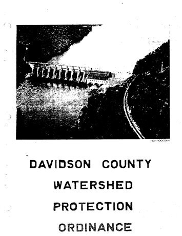 Davidson County Watershed Ordinance - Davidson County, NC