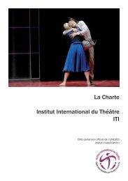 La Charte Institut International du Théâtre ITI - International Theatre ...