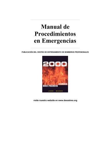 Manual de Procedimientos en Emergencias - Bligoo.com
