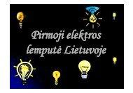 Pirmoji elektros lemputė Lietuvoje