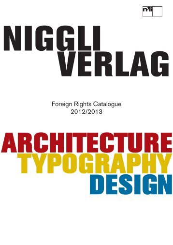 Foreign Rights Catalogue 2012/2013 - Niggli Verlag