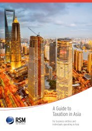 A Guide to Taxation in Asia - RSM International