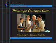 Planning a Successful Lesson