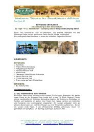 Botswana Safari - Out of Africa Safaris