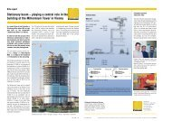Stationary boom – playing a central role in the building ... - Putzmeister
