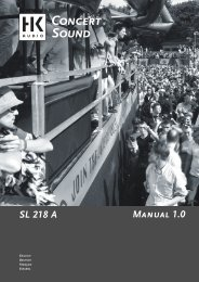 Manual 1.0 SL 218 A - SDS Music Factory AG