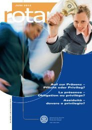 Auf zur Präsenz – Pflicht oder Privileg? La ... - Rotary Schweiz