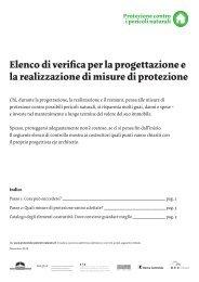 Elenco di verifica per la progettazione e la realizzazione di misure di ...