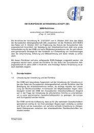 DIE EUROPÄISCHE AKTIENGESELLSCHAFT — SE - WORKER ...