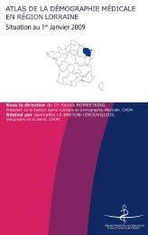 Atlas de la région Lorraine - Conseil National de l'Ordre des Médecins